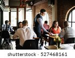 restaurant chilling out classy... | Shutterstock . vector #527468161