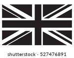 uk flag grayscale | Shutterstock .eps vector #527476891