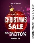 christmas sale design poster... | Shutterstock .eps vector #527477119