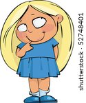 shy beautiful blond | Shutterstock .eps vector #52748401