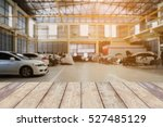 wood table top with car repair... | Shutterstock . vector #527485129
