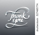 paper art of thank you... | Shutterstock .eps vector #527485774
