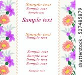invitation or wedding card... | Shutterstock .eps vector #527485879