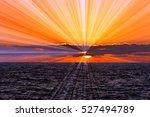Ocean Sunset Sun Rays Is A Sun...