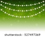christmas light bulbs on starry ... | Shutterstock .eps vector #527497369