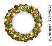 christmas wreath vector... | Shutterstock .eps vector #527498329