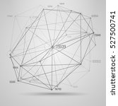 big data visualization .... | Shutterstock .eps vector #527500741