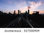 atlanta sunset | Shutterstock . vector #527500909