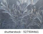 Bright Frost Pattern On Window...