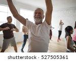 diversity people exercise class ... | Shutterstock . vector #527505361