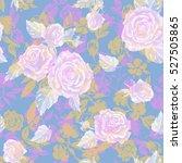 floral pastel roses pattern... | Shutterstock . vector #527505865