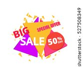 big sale and special offer... | Shutterstock .eps vector #527508349