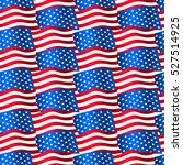 usa flags waving in a seamless... | Shutterstock . vector #527514925