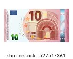 ten euro banknote 2014 isolated ... | Shutterstock . vector #527517361
