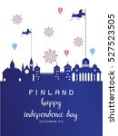 finland independence day ... | Shutterstock .eps vector #527523505