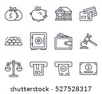 business bank finance line... | Shutterstock .eps vector #527528317
