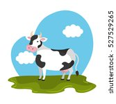 cow animal farm in the field | Shutterstock .eps vector #527529265