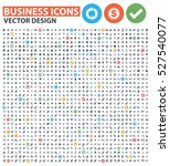 business icon set clean vector | Shutterstock .eps vector #527540077