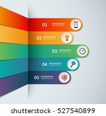 infographic template in the... | Shutterstock .eps vector #527540899