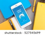 credit score concept on screen | Shutterstock . vector #527545699