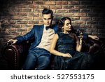 beautiful gorgeous couple in...   Shutterstock . vector #527553175