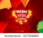 vector happy new year design  ... | Shutterstock .eps vector #527556805