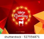 vector happy new year design  ... | Shutterstock .eps vector #527556871