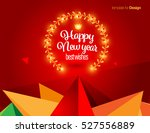 vector happy new year design  ... | Shutterstock .eps vector #527556889