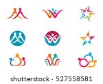adoption and community care logo | Shutterstock .eps vector #527558581