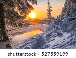 Winter Sunset Nature Landscape