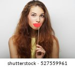 playful young woman ready for... | Shutterstock . vector #527559961