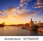 seville sunset skyline torre... | Shutterstock . vector #527560339