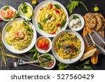 raw pasta dish | Shutterstock . vector #527560429