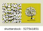 greeting card with panda design   Shutterstock .eps vector #527561851