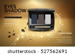 eye shadow ads  elegant black... | Shutterstock .eps vector #527562691