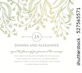 an invite template with floral... | Shutterstock .eps vector #527565571