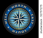 compass on black background ... | Shutterstock .eps vector #52757275