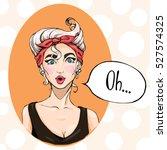 girl style pin up. vector... | Shutterstock .eps vector #527574325