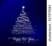 happy new year stylized shining ... | Shutterstock .eps vector #527575081