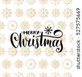 vector merry christmas... | Shutterstock .eps vector #527575669