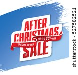 after christmas sale banner | Shutterstock .eps vector #527582521