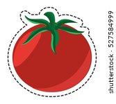 fresh vegetable flat isolated... | Shutterstock .eps vector #527584999