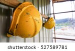 dirty construction safety... | Shutterstock . vector #527589781