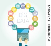 analyst big data icons vector... | Shutterstock .eps vector #527590801
