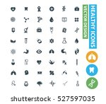 healthy care and medical icons ... | Shutterstock .eps vector #527597035