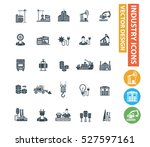 industry icons design clean... | Shutterstock .eps vector #527597161