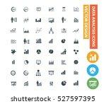 data analysis icon set clean...