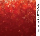 red abstract gradient polygon... | Shutterstock .eps vector #527603404