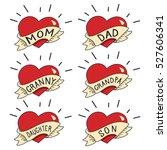 old school tattoo vector set... | Shutterstock .eps vector #527606341