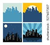 city building skyline vector... | Shutterstock .eps vector #527607307